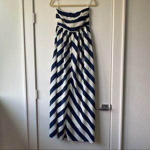 Lulu's Navy & White Chevron Maxi